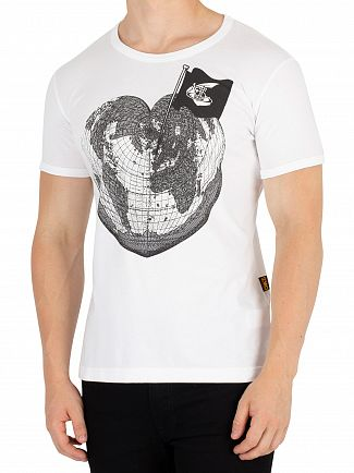 Vivienne Westwood White Classic Heart World Print T-Shirt