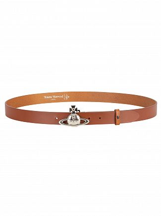 Vivienne Westwood Brown Orb Buckle Palladio Belt