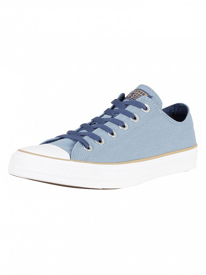 Converse Washed Denim/Khaki/White CT All Star Ox Canvas Trainers