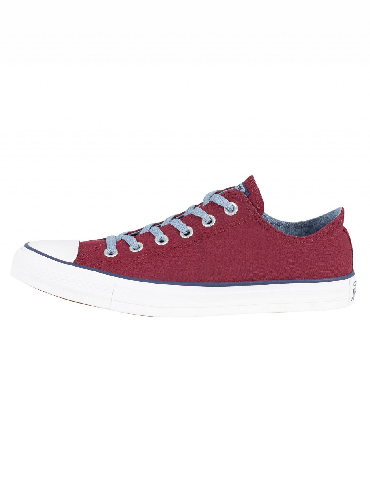 bf04047a179d0 Converse Dark Burgundy Washed Denim CT All Star Ox Canvas Trainers ...