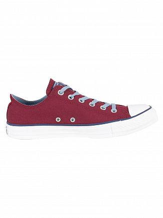 Converse Dark Burgundy/Washed Denim CT All Star Ox Canvas Trainers