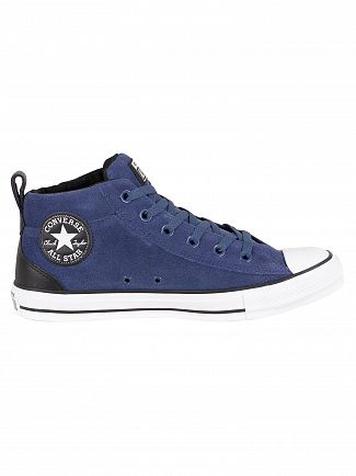 Converse Mason Blue/Black/White CT All Star Street Suede Trainers