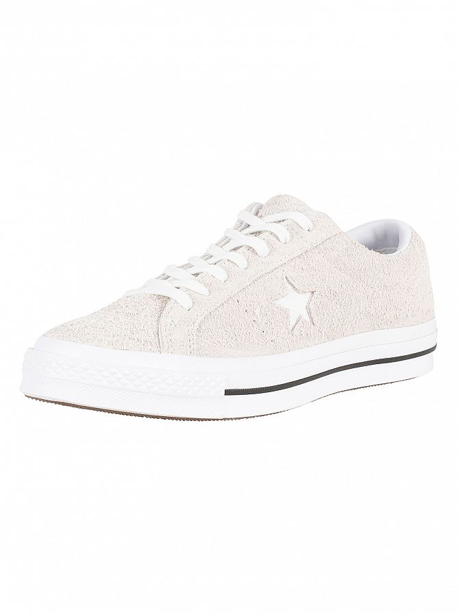 Converse White/White One Star Ox Suede Trainers