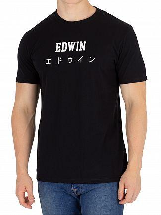 Edwin Black Garment Washed Japan T-Shirt