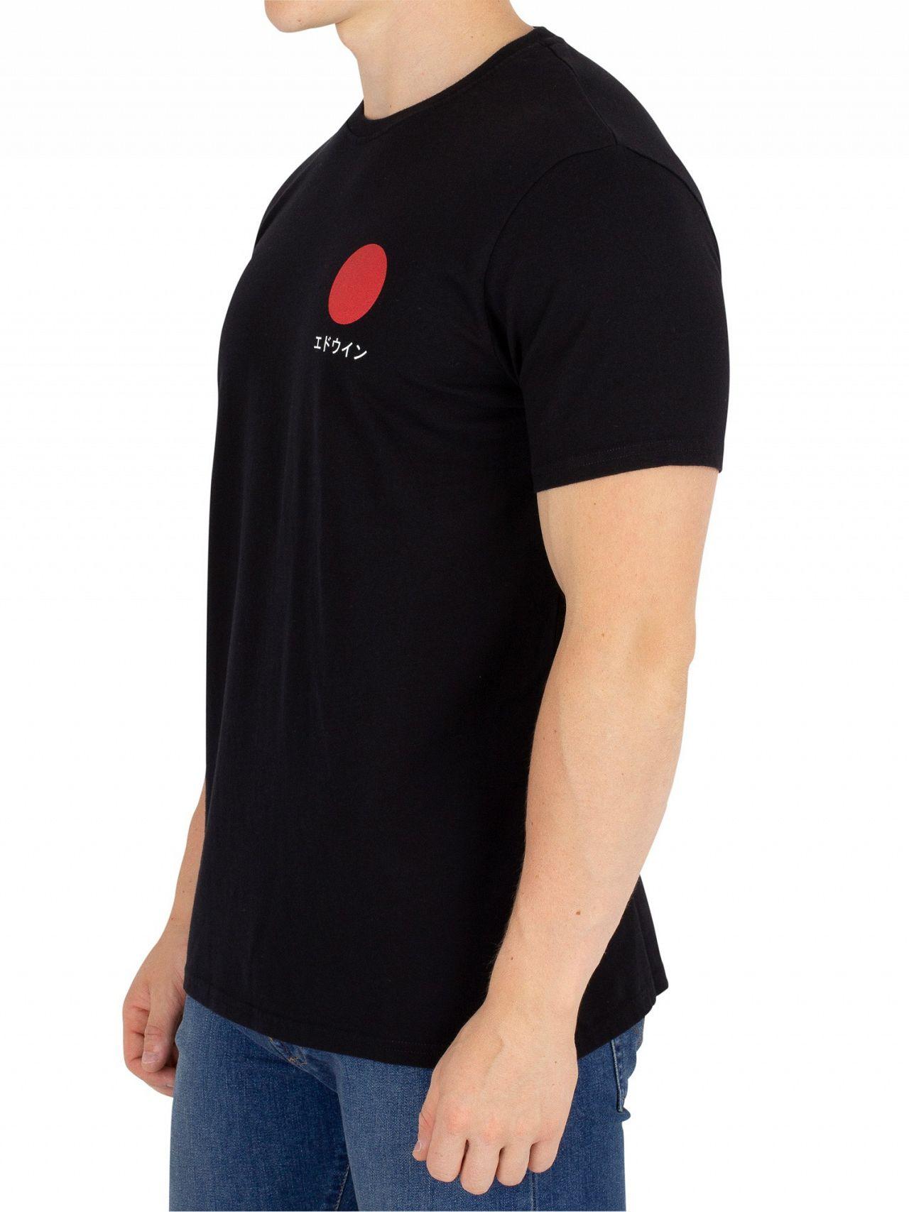 ed572e91 Edwin Black Garment Washed Japanese Sun T-Shirt | Standout