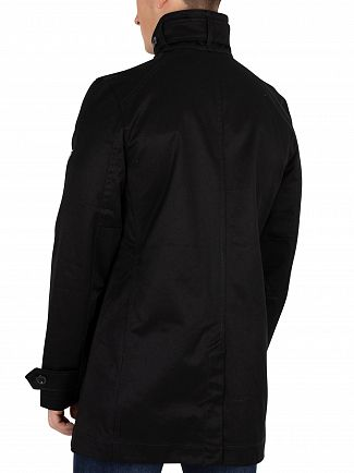G-Star Dark Black Garber Trench Coat