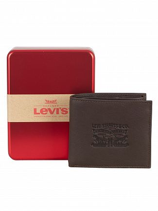 Levi's Dark Brown Vintage Two Fold Bifold Wallet