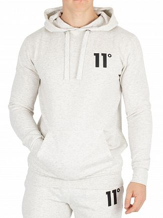 11 Degrees Snow Marl Core Pullover Hoodie