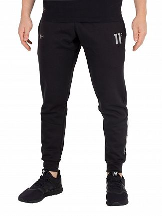 11 Degrees Black Reflective Joggers