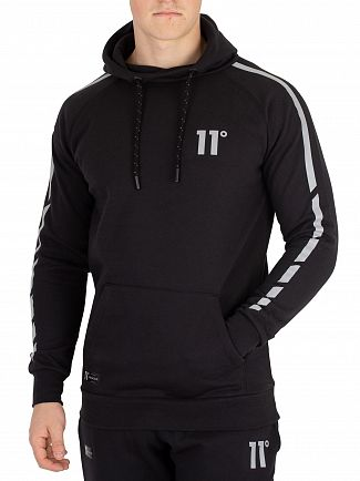 11 Degrees Black Reflective Pullover Hoodie
