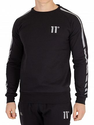 11 Degrees Black Reflective Sweatshirt