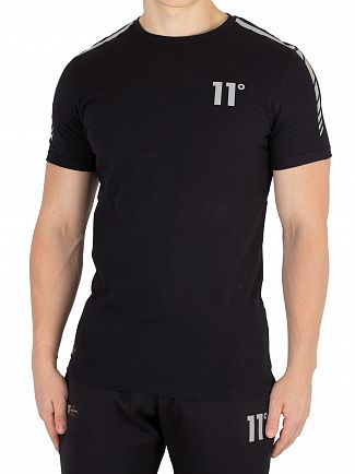 11 Degrees Black Reflective T-Shirt