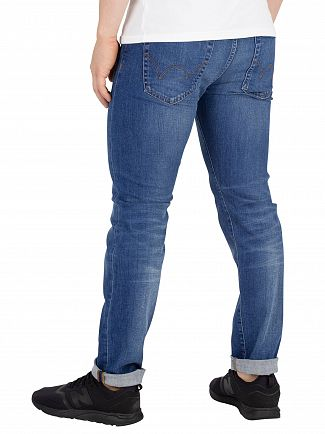 Edwin Power Blue Denim ED-80 Slim Tapered Jeans