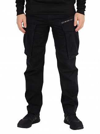 G-Star Dark Black Rovic 3D Straight Tapered Cargos