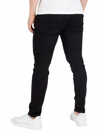 Jack & Jones Black Denim Liam Original 001 Skinny Jeans