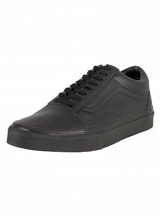 Vans Black Old Skool Leather Trainers