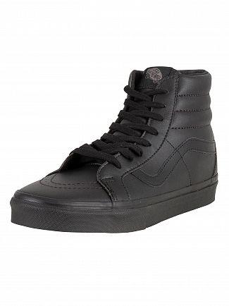 Vans Black SK8-Hi Reissue Leather Trainers