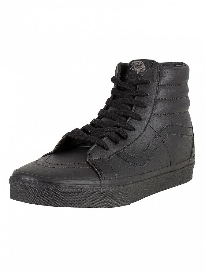 Vans Black SK8-Hi Reissue Leather Trainers