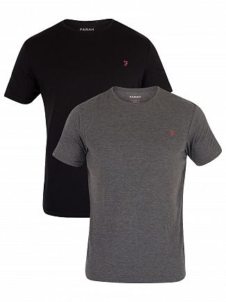 Farah Vintage Black/Charcoal 2 Pack Pinehurst T-Shirt
