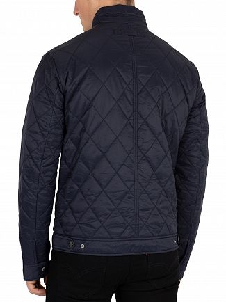 Gant Navy Quilted Windcheater Jacket