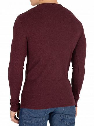 G-Star Dark Fig Heather Dill Slim Longsleeved T-Shirt