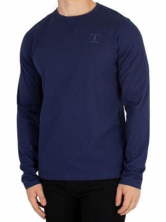 Hackett London Navy Mr Classic Longsleeved T-Shirt