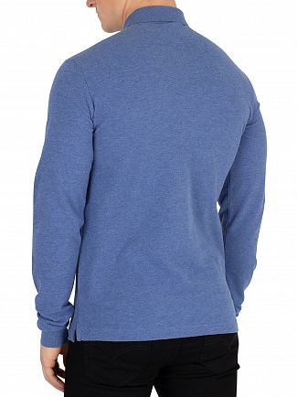 Hackett London Blue Mr Classic Slim Longsleeved Poloshirt