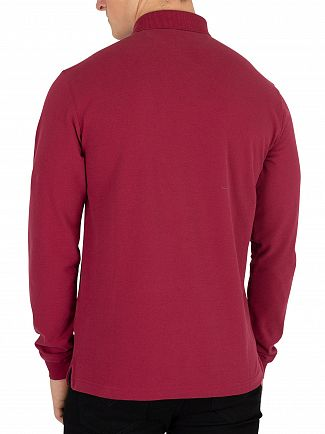 Hackett London Crimson Mr Classic Slim Longsleeved Poloshirt