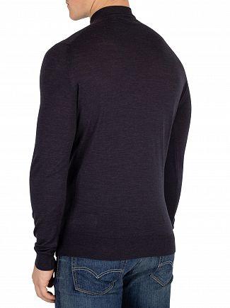 John Smedley Hepburn Smoke Barrow Zip Pullover Knit