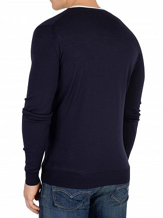 John Smedley Midnight Petworth V-Neck Cardigan