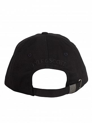 Lyle & Scott True Black Cotton Twill Baseball Cap