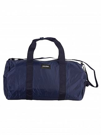 Lyle & Scott Navy Lightweight Barrel Bag