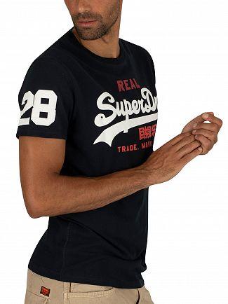 Superdry Eclipse Navy Vintage Logo Tri T-Shirt