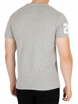 Superdry Montana Grey Grit Vintage Logo Tri T-Shirt