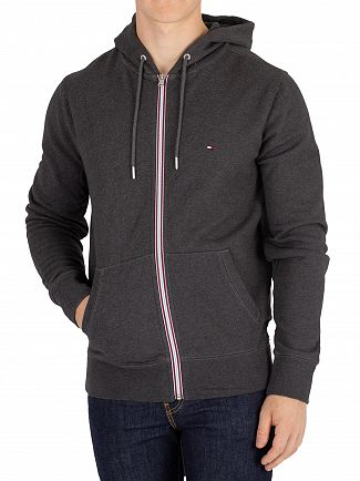Tommy Hilfiger Charcoal Heather Zip Hoodie