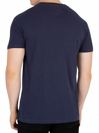 Tommy Jeans Black Iris Navy Essential Graphic T-Shirt