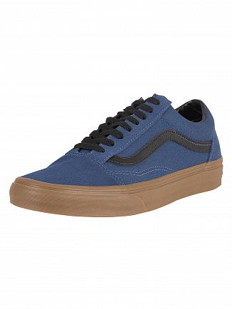 Vans Dark Denim Old Skool Gum Outsole Trainers