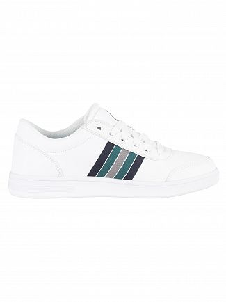 K-Swiss White/Indigo Uniform/Jasper Green Court Clarkson S Trainers