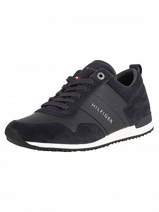 Tommy Hilfiger Midnight Iconic Leather Suede Trainers