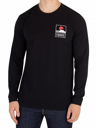 Edwin Black Sunset On Fuji Longsleeved T-Shirt