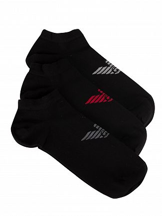 Emporio Armani Black 3 Pack Inside Socks