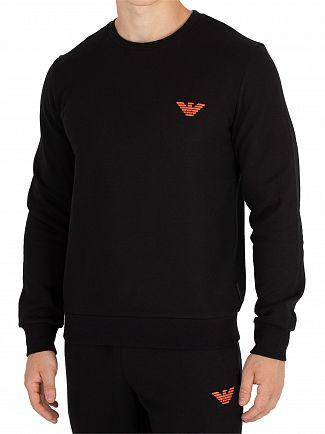 Emporio Armani Black Chest logo Sweatshirt