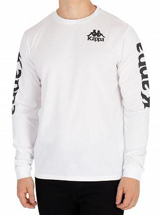 Kappa White Ruiz Authentic Longsleeved T-Shirt