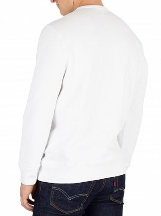 Levi's White Graphic Logo 2 Sweatshirt