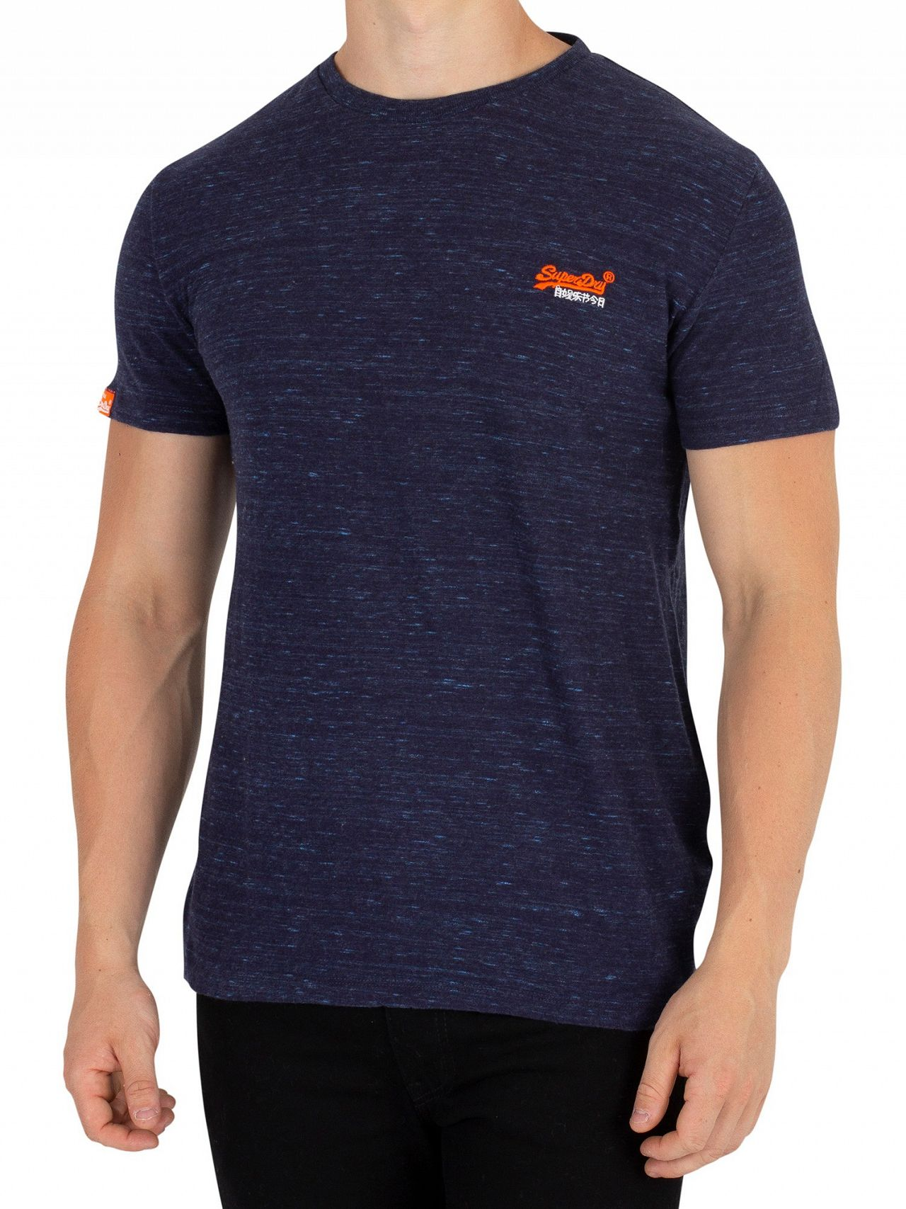 fe4c379d Superdry Montana Blue Space Dye Orange Label Vintage EMB T-Shirt ...