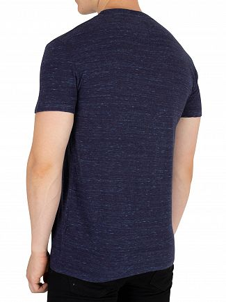 Superdry Montana Blue Space Dye Orange Label Vintage EMB T-Shirt