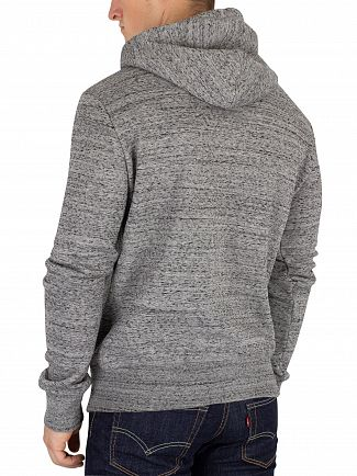 Superdry Flint Grey Grit Orange Label Zip Hoodie