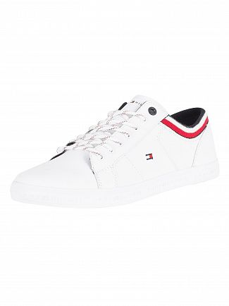 Tommy Hilfiger White Essential Low Trainers