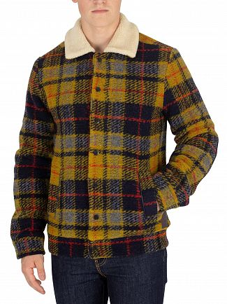 Scotch & Soda Brown Woollen Trucker Jacket