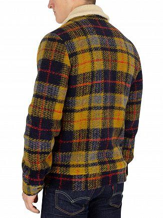 Scotch & Soda Brown Woollen Trucker Jacket